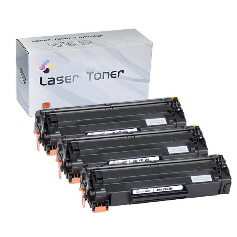 Compatível: Kit com 3 Toner Universal - CE285A CB435A CB436A 285 435 436 para HP P1102W M1132 P1005 M1120