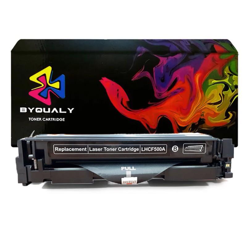 Compativel: Toner ByQuality CF500 CF500A para HP M254 M280 M281 M281FDW M254DW Preto 1.4K