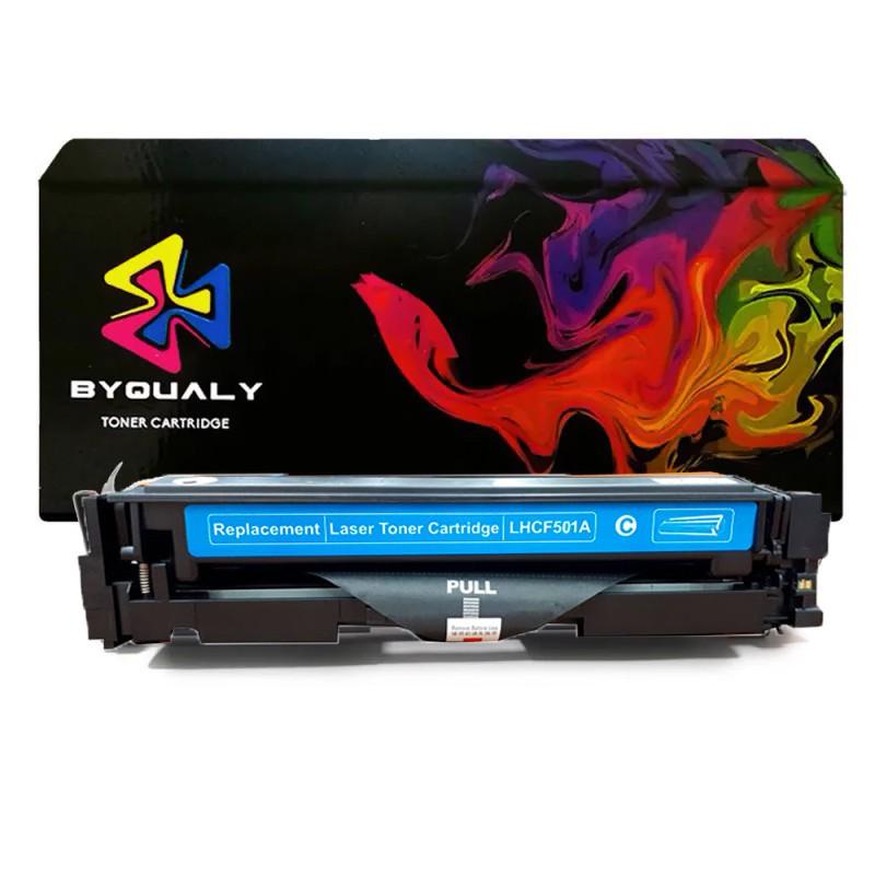 Compativel: Toner ByQuality CF501 CF501A para HP M254 M280 M281 M281FDW M254DW Ciano 1.3K