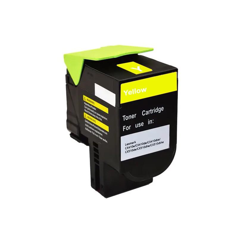 Compativel: Toner novasupri 808YK 80C8HY0 Lexmark CX 410 510 410e 410de 510dhe 510de amarelo 3k