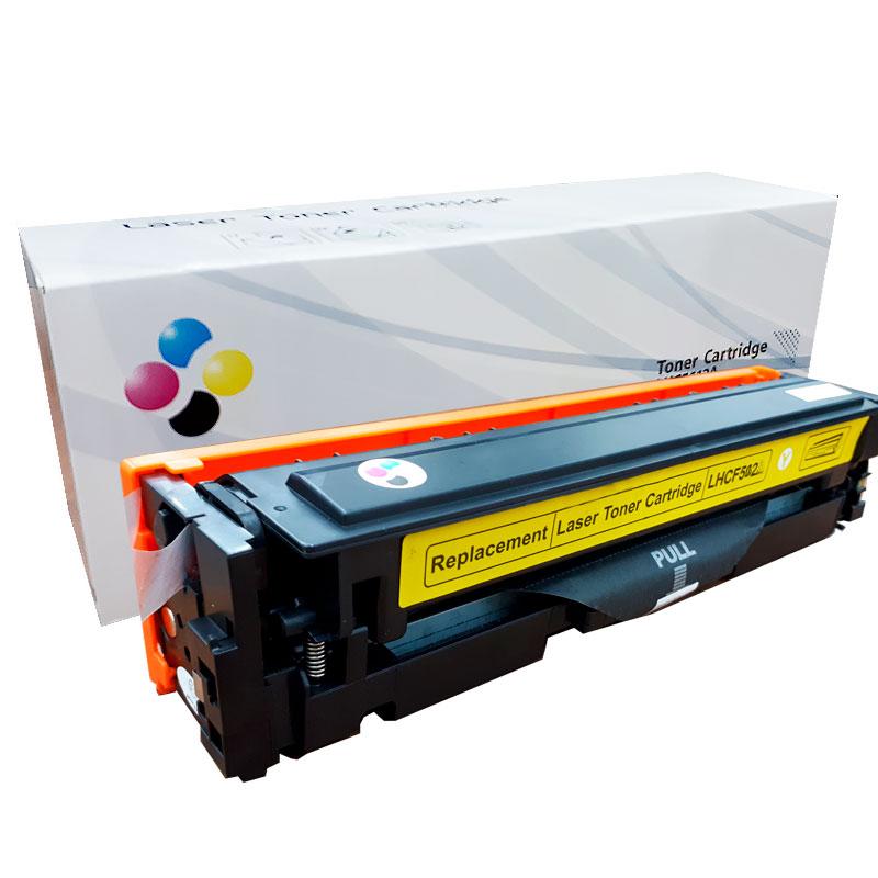 Compativel: Toner novasupri CF502 CF502X para HP M254 M280 M281 M281FDW M254DW Amarelo 2.25K