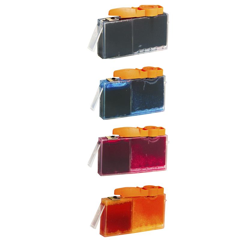 Compativel: Kit Cartucho para HP 564 CB316W CB318W CB319W e CB320W Preto Ciano Amarelo e Magenta.