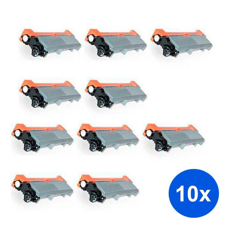 Compativel: Kit 10 Toner TN660 TN2340 2370 HL-L2360 HL-L2320 MFC-L2720 MFC-L2740 MFC-L2700 DCP-L2520 2 6K
