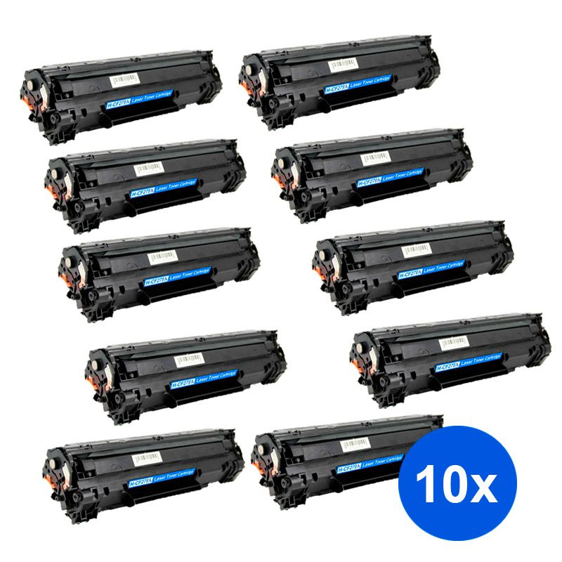 Compativel: Kit 10 Toner CF279A CF279 279A para HP M12 M26 M12A M12W M26A M26NW 12A 12W 26A 26NW 1k