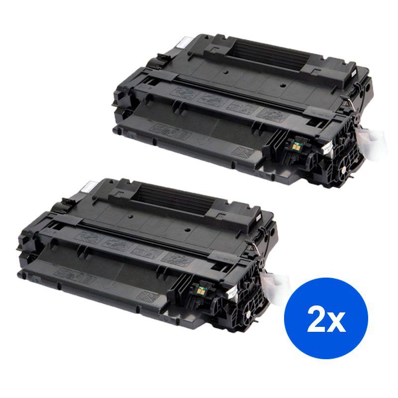 Compativel: Kit 2 Toner CE255A 55A 500 M525F para HP P3015DN P3015X P3015N P3016 P3015