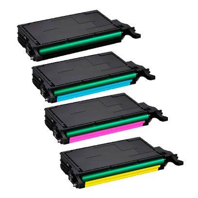Compativel: Kit 4 Toner Samsung 609 CLT-609S CLP775 CLP-770ND CLP 775ND CLP770 CMYK 7k