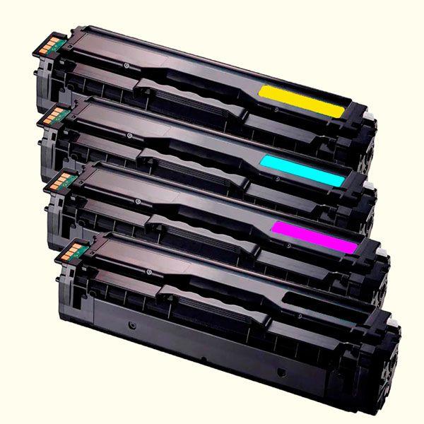 Compativel: Kit 4 Toner Samsung CLT-504S 504S CMYK CLP415NW CLX4195FN SL-C1810W Importado