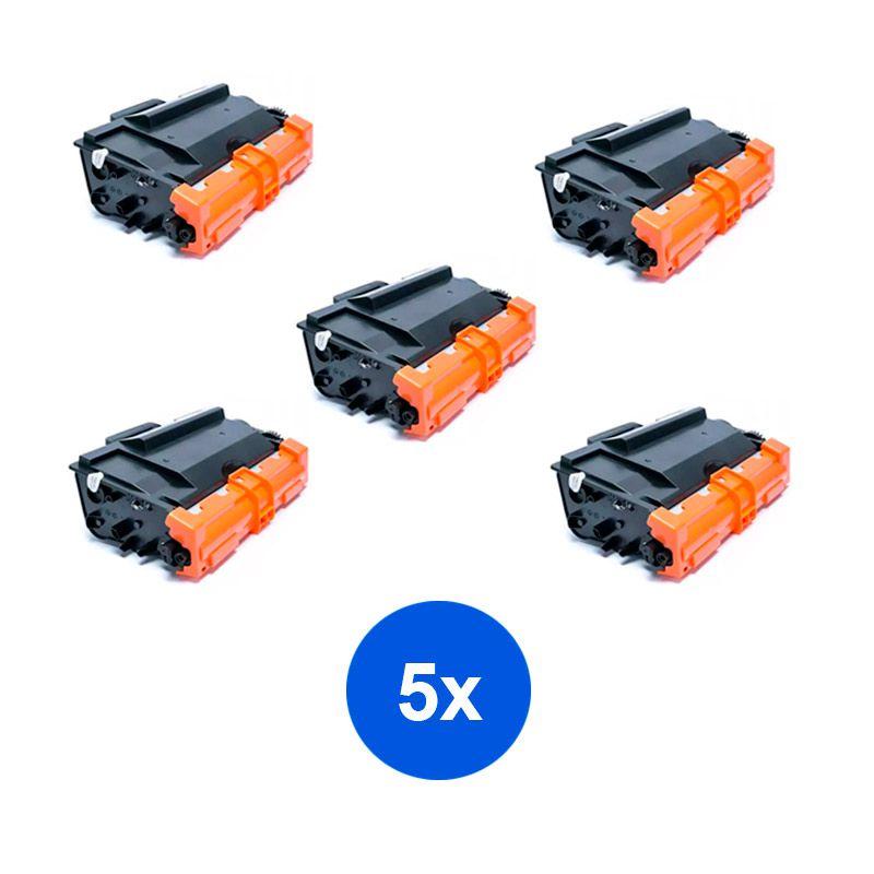 Compativel: Kit 5 Toner Brother TN3472 TN3470 TN880 L5102 L6202 DCP-L5502DN L5602DN MFC-L5902DN L6702DN 12k