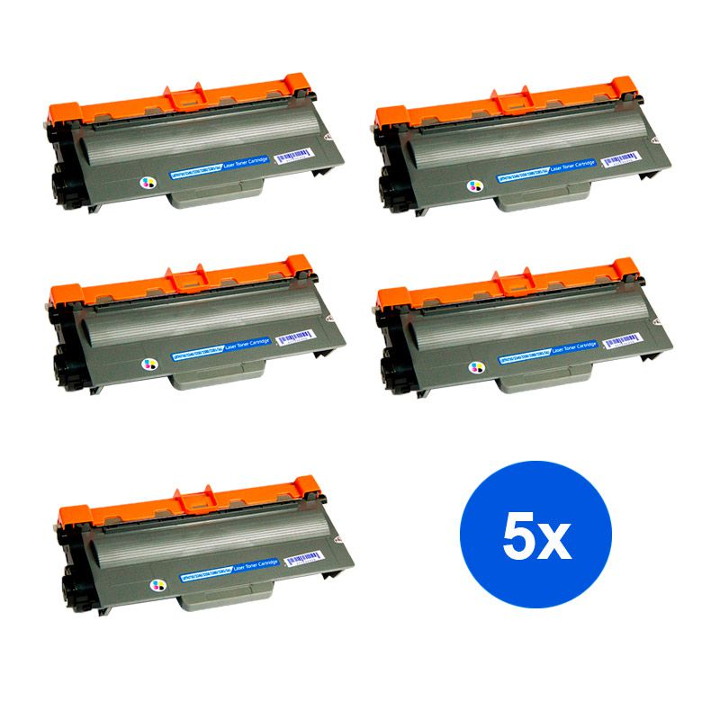 Compativel: Kit 5 Toner Brother TN750 8150 8152 8155 MFC 8510 8520 8515 8710 8950 8910 3392 8912