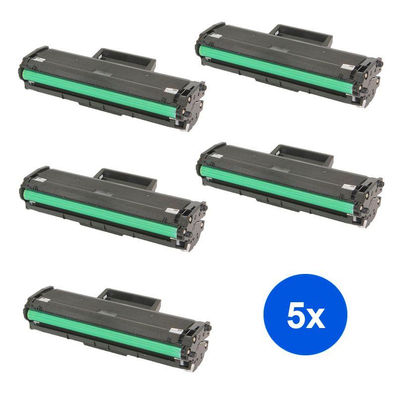 Compativel: Kit 5 Toner MLT- D111S - Samsung - M2020 M2020FW M2020W M2070 M2070FW M2070W