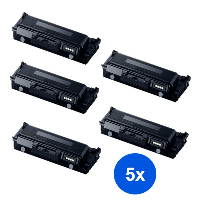 Compativel: Kit 5 Toner Samsung MLT-D204L D204 M3325ND 3375FD 3825DW 3825ND 3875FW 3875FD 4025ND 4075FW 5k