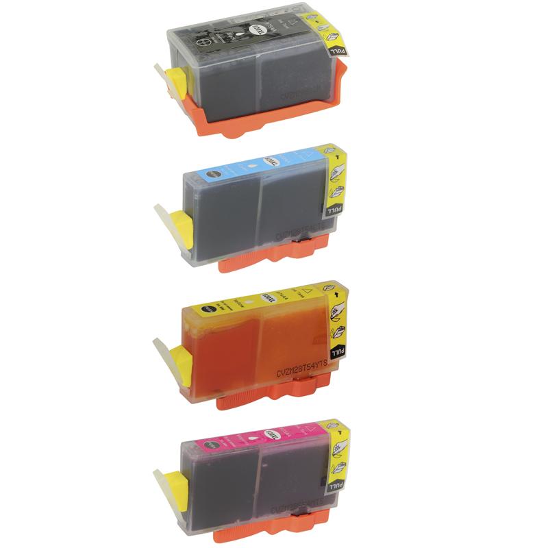 Compativel: Kit Cartucho para HP 920XL CD975A CD972A CD973A e CD974A Preto Ciano Amarelo e Magenta.