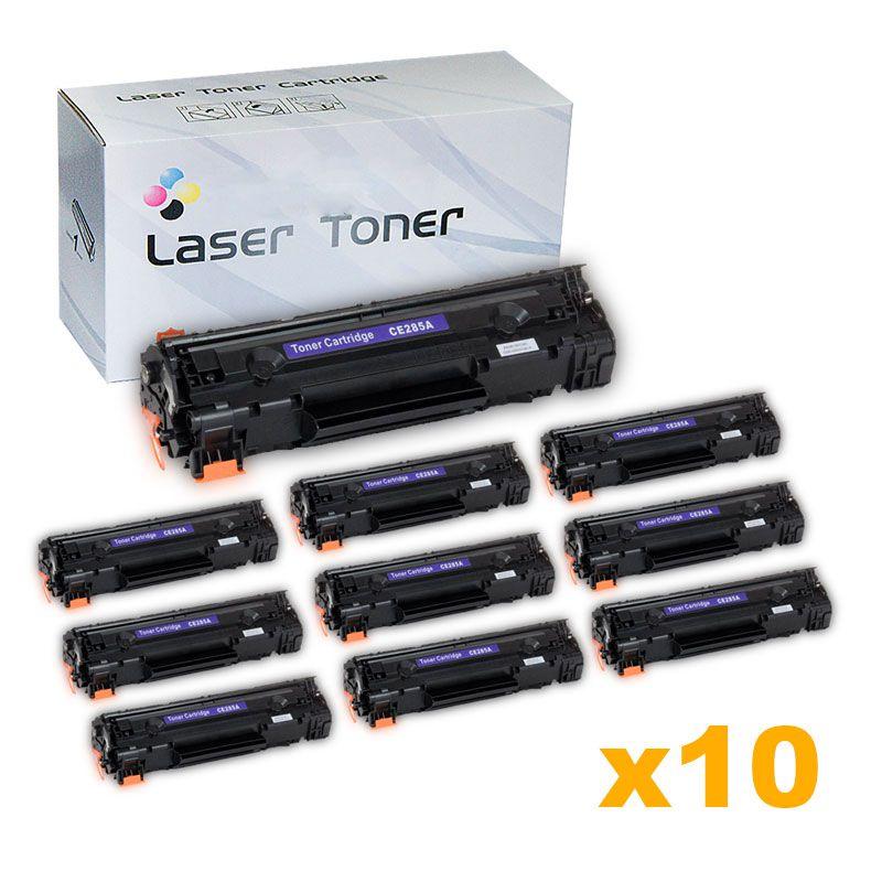 Compativel: Kit com 10 Toner para HP CE285A - P1102 M1210 M1212 M1130 M1132 M1217 P1102W M1217FW