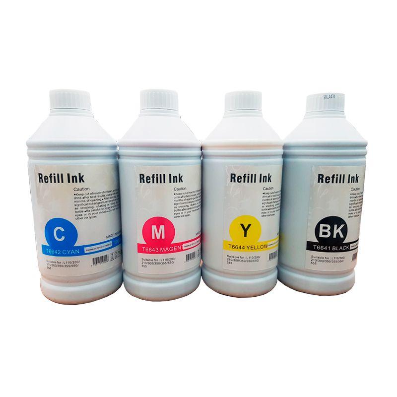 Compativel: Kit Refil Tinta T664 Epson L110 L100 L120 L200 L210 L220 L220 L4550 L350 L355 L365 L375 L380 L395 L550 L555 1 Litro