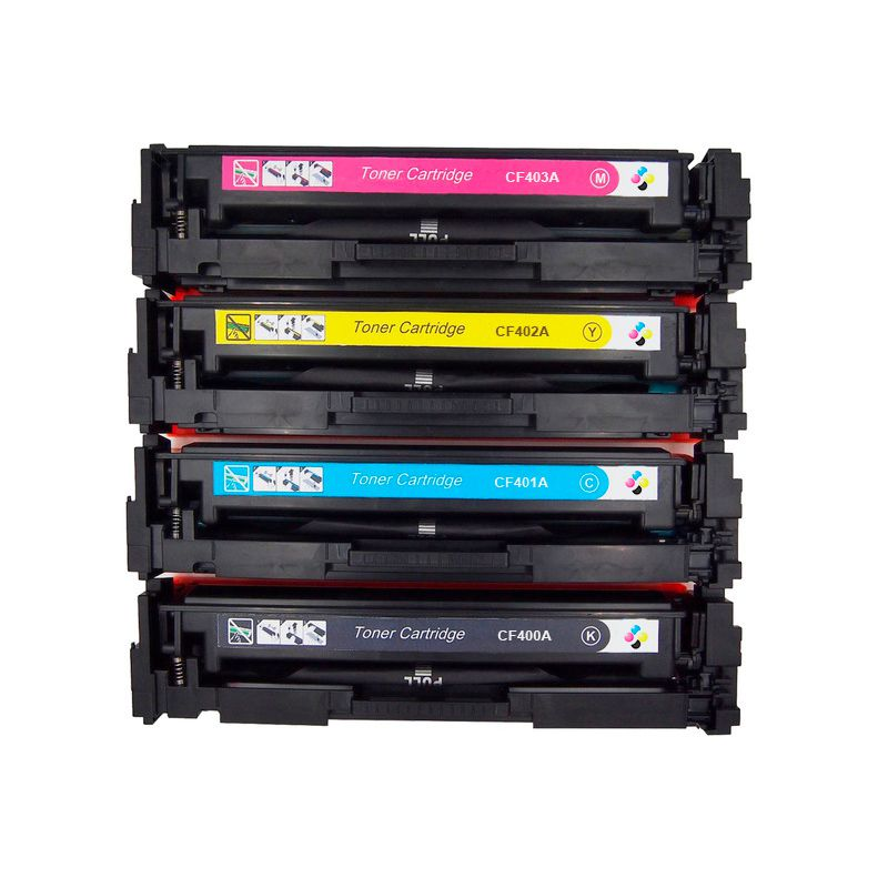 Compativel: Kit Toner CF400 401 402 403 para HP 201A M252 M277 M252dw M277dw CMYK