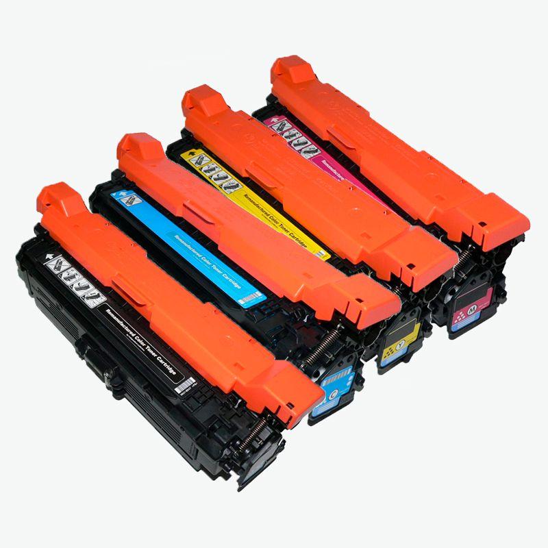 Compativel: Kit Toner para HP CE400X CE401A CE402A CE403A M551N M575F M575C M570DN M551DN