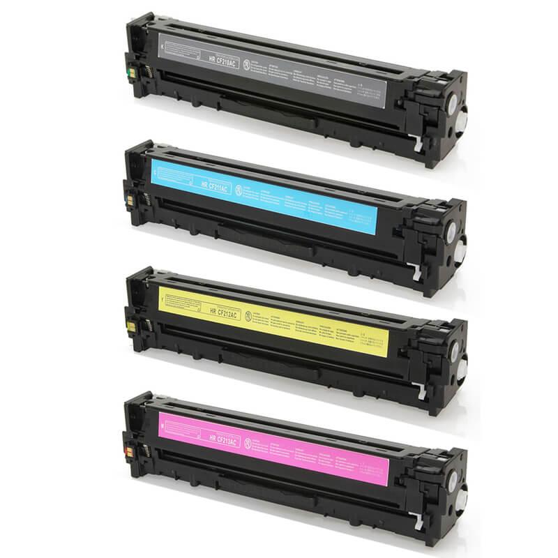 Compativel: Kit Toner para HP CF210A CF211A CF212A CF213A M251 M276 M251N M276N M251NW M276NW