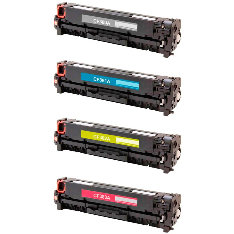Compativel: Kit 4 Toner CF380 80A 81A 82A 83A 312A para HP M476 M476NW M476DW