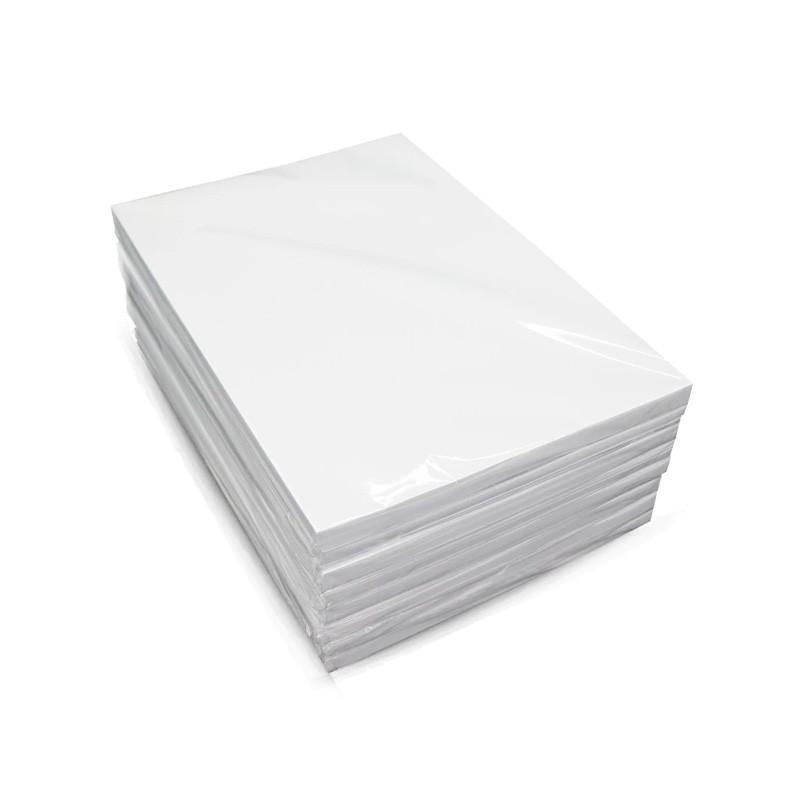 Papel Fotografico A4 Premium Glossy Autoadesivo 130g  50 folhas