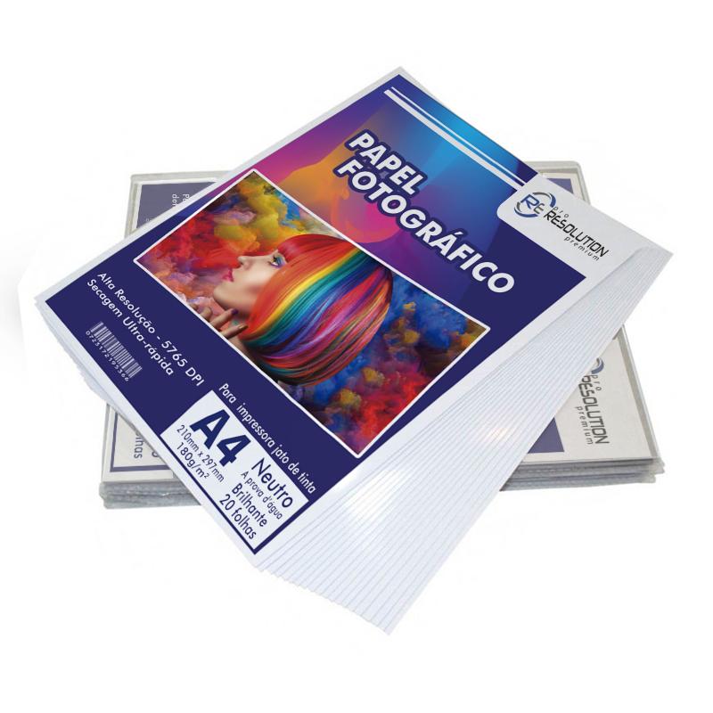 Papel Fotográfico Pro Resolution A4 Brilhante 180g 20 folhas