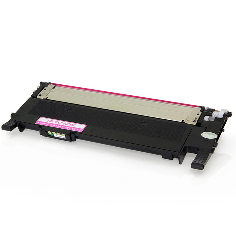 Compativel: Toner novasupri Samsung CLT-M406S Magenta - CLP365W CLX3305W CLX3305FW CLX3300