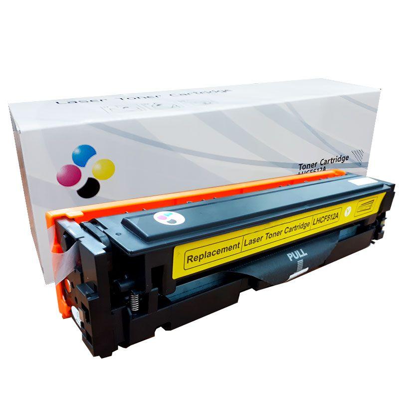 Compativel: Toner novasupri CF512A para HP 204A M154 M180N M-180NW M180 M181 FW Amarelo