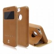 Capinha Flip Pure View Baseus Iphone 7 Couro Suporte