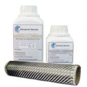 Kit Resina Epoxi HT1564 ( 500 g ) + Fibra de Carbono ( 25 X 20 Cm )