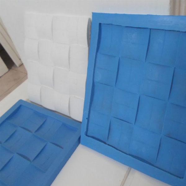 Borracha de Silicone Azul