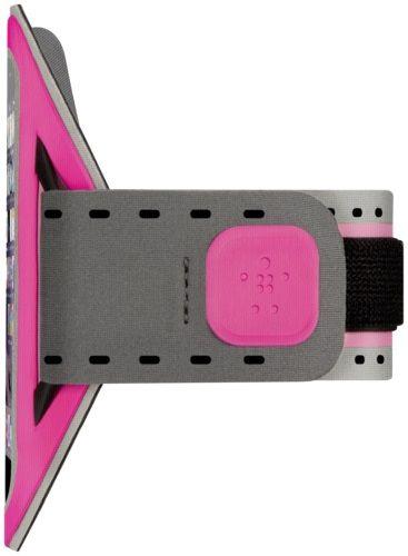 Braçadeira Belkin Slim-fit Neoprene iPhone 6/6S Rosa e Cinza