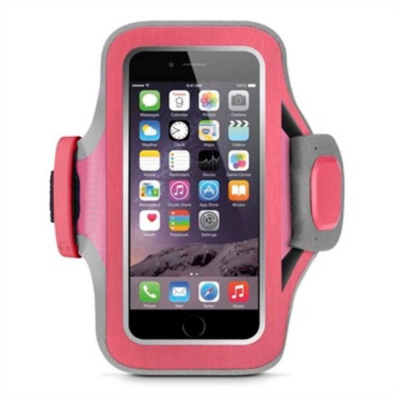Braçadeira Slim-fit Neoprene iPhone 6/6S Rosa e Cinza