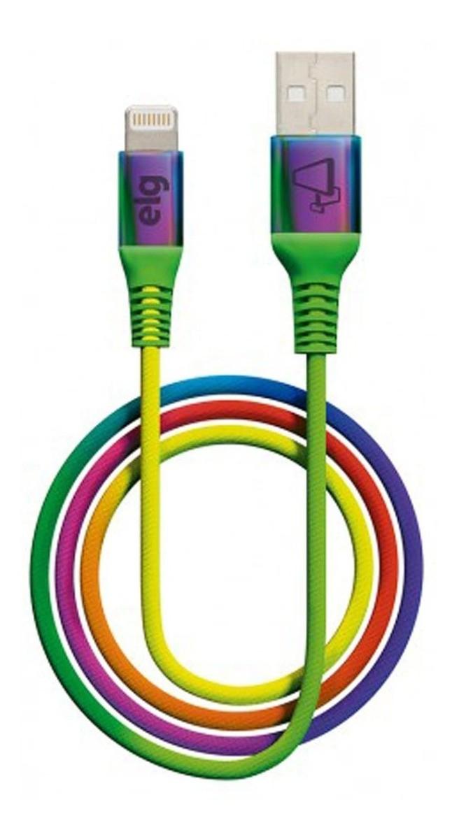 Cabo P/ iPhone - Lightning - Reforçado Colorido ELG