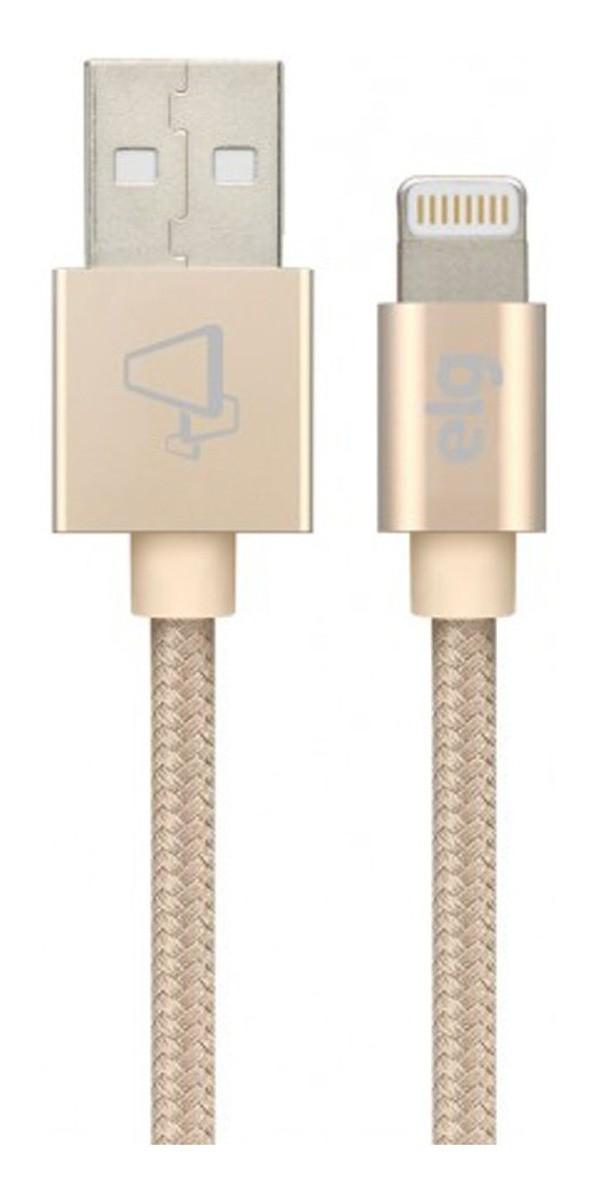 Cabo Reforçado P/ iPhone iPad Lightning - Certificado - ELG