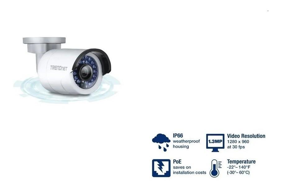 Câmera Vigilância Hd 1.3 Mp Infra Vermelho Externa TRENDNET