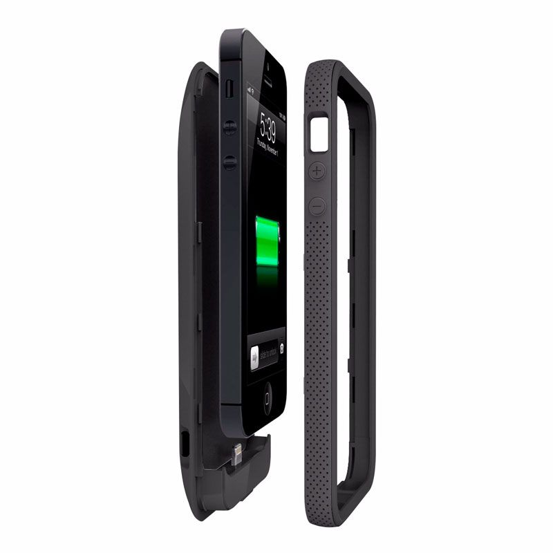 Capa Carregadora para iPhone 5 / 5S, Preta, 2000 mAh, Grip Power, Belkin