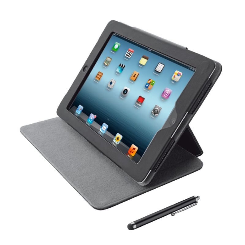 Capa elegante para iPad com Caneta stylus