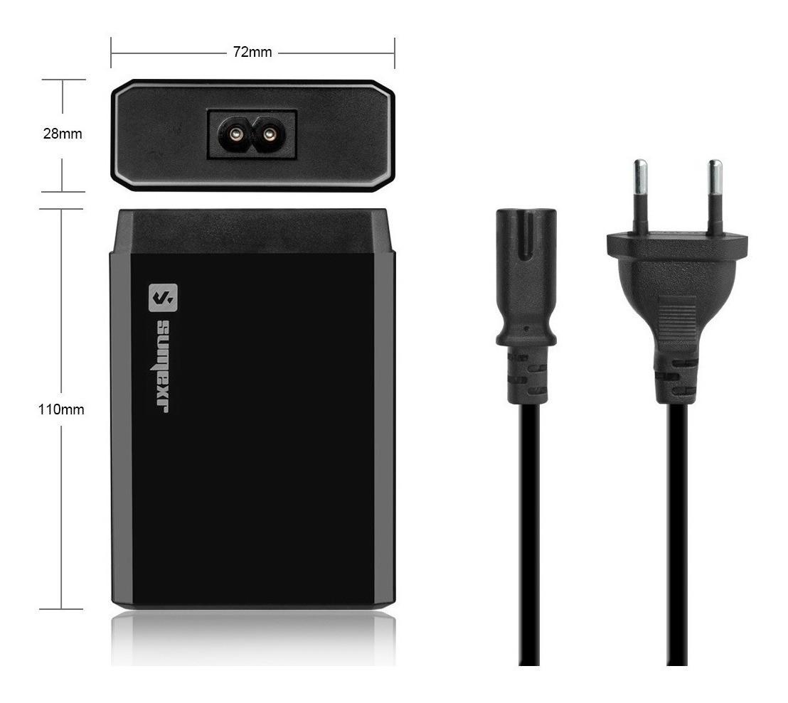 Carregador 6 Porta USB Rápido 10A Universal - PRETO