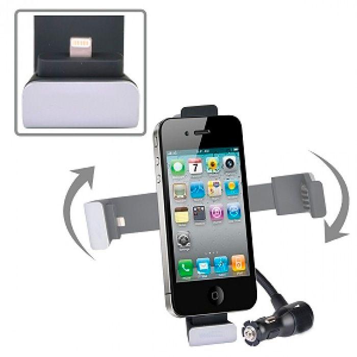 Carregador Veicular Lightning Suporte Iphone