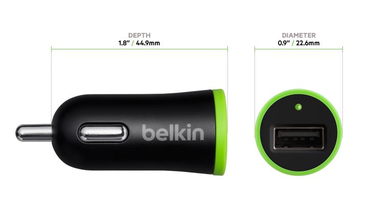 Carregador veicular com cabo micro USB - Belkin