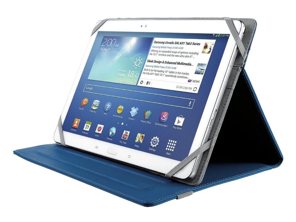 Case Capa Luxo Couro Para Tablet 10 Polegadas Folio