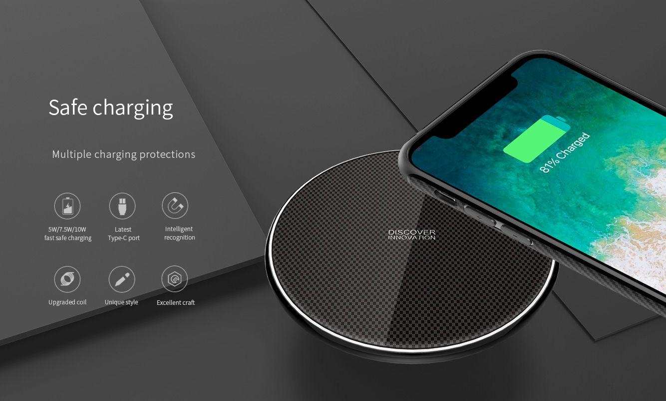Case Super Luxo + Carregador Sem Fio Para Iphone X Nillkin - Fancy