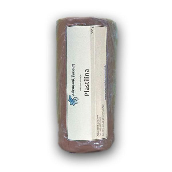 Massa de Molder - Plastilina Marrom- Tipo Clay - Embalagem com 500g