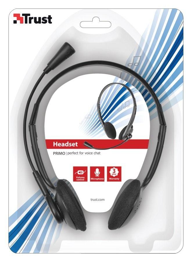 Fone de ouvido com microfone integrado - TRUST PRIMO HEADSET