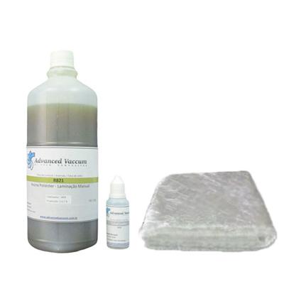 [Kit Reparo Fibra de Vidro] Resina de Poliéster e Manta Fibra de Vidro