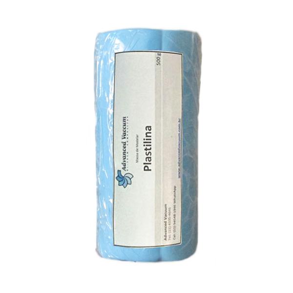 Massa de Molder - Plastilina Azul - Tipo Clay - Embalagem com 500g