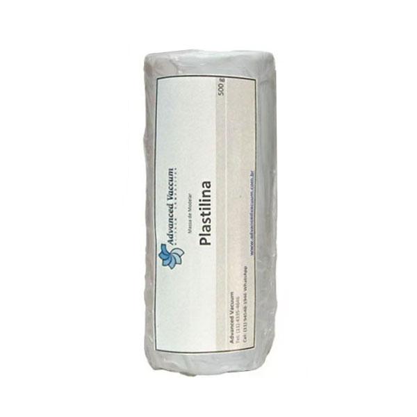 Massa de Molder - Plastilina Branca - Tipo Clay - Embalagem com 500g