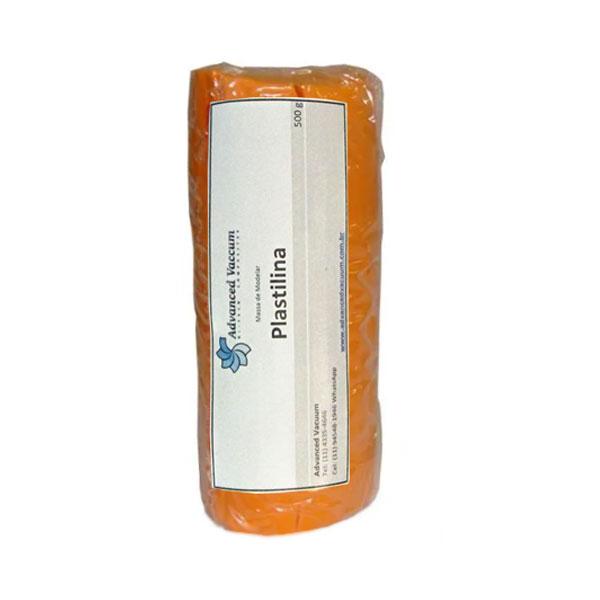Massa de Molder - Plastilina Laranja - Tipo Clay - Embalagem com 500g