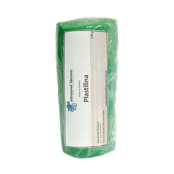 Massa de Molder - Plastilina Verde - Tipo Clay - Embalagem com 500g