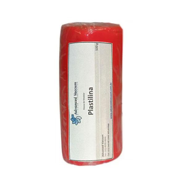 Massa de Molder - Plastilina Vermelho- Tipo Clay - Embalagem com 500g