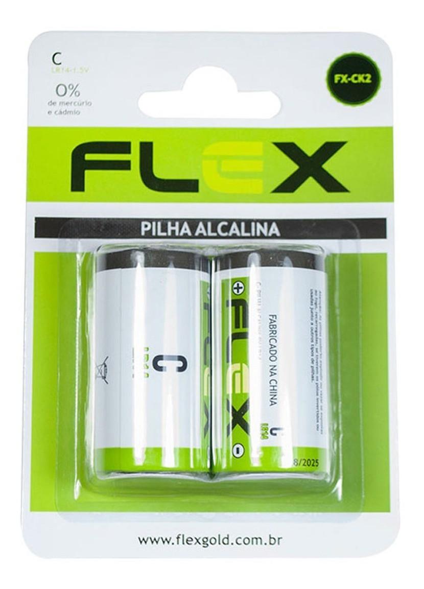 Pilha Alcalina Media Tipo C Lr14 02 Unidades Dura Mais
